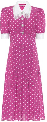 Alessandra Rich Polka-dot silk dress