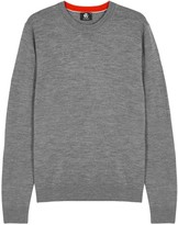 Ps By Paul Smith Grey Melangé Wool Jumper