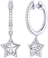 Lucky Star Lmj Hoop Earrings In Sterling Silver