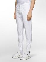 Calvin Klein Platinum Slim Fit Knit-Trim Poplin Jogger Pants