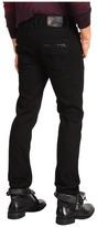 Versace Leather Trim Jean (Black) - Apparel