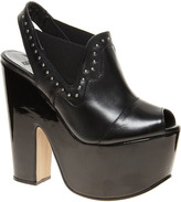Asos PREMIUM HOLLA BACK Leather Heeled Sandals