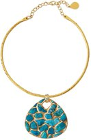 Devon Leigh Copper-Infused Turquoise Pendant Necklace