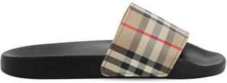 Burberry Check Tech Slide Sandals