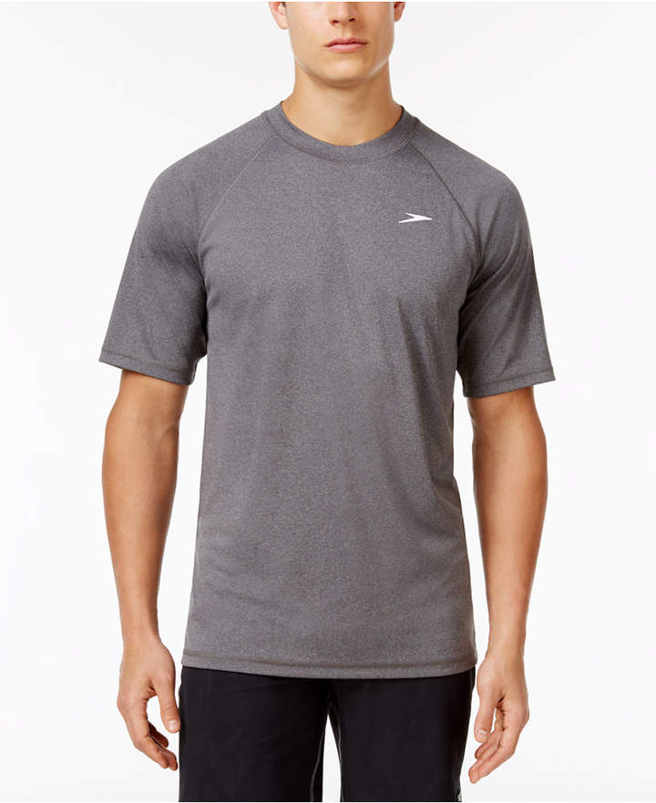 Speedo Men's Crew-Neck Heathered Swim Shirt
