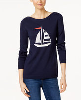 Charter Club Sailboat Graphic Sweater, Only at Macy's