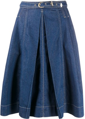 Versace Jeans Couture Denim Full Skirt