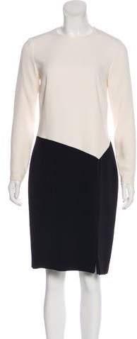 Ralph Lauren Black Label Long Sleeve Silk Dress