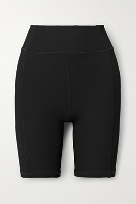 The Upside Eka Ribbed Stretch Shorts - Black