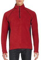 Saks Fifth Avenue BLACK Quarter-Zip Paneled Fleece Pullover