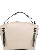 Jil Sander oversize buckled tote - women - Cotton/Leather - One Size