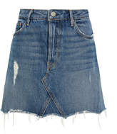 GRLFRND Denim Eva Denim Mini Skirt