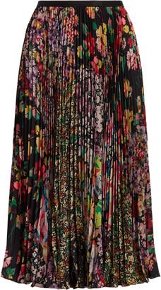 Ralph Lauren Floral Patchwork Pleated Skirt