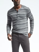 Banana Republic Shadow Stripe Henley