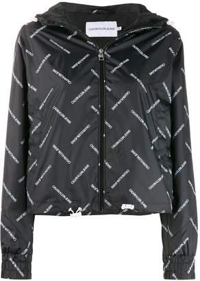 Calvin Klein Jeans logo print shell jacket