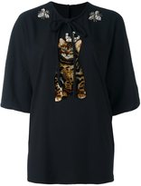 Dolce & Gabbana crowned kitten patch top