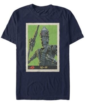 Star Wars Men's Mandalorian Retro Ig-11 Poster T-shirt