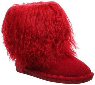 BearPaw Boo Genuine Sheepskin & Genuine Curly Lamb Hair Bootie