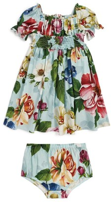 Dolce & Gabbana Kids Floral Smock Dress and Bloomers (3-30 Months)