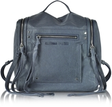 McQ by Alexander McQueen Denim Blue Leather Loveless Convertible Box Bag