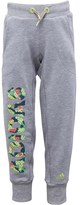 adidas Junior Rock It Knitted Cuffed Sweat Pants Medium Grey/Frozen Yellow
