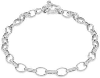 True Rocks Belcher Charm Bracelet Rhodium Plated