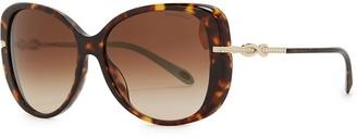 Tiffany & Co. Tortoiseshell oversized sunglasses