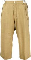 Sacai grid print trousers - men - Cotton - 1