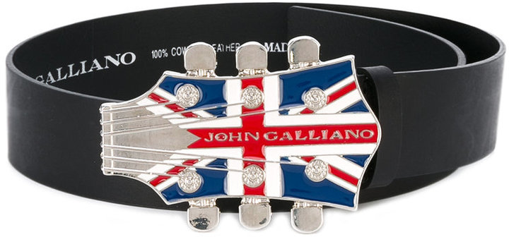John Galliano flag buckle belt