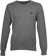 Duck and Cover Mens Swanley 2 Knit Top Mid Grey Marl