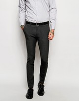 Asos Wedding Super Skinny Suit Trousers In Charcoal