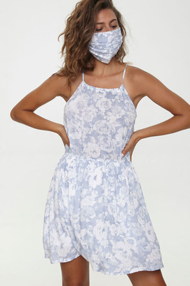 Forever 21 Floral Mini Dress Face Mask Set