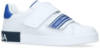 Dolce & Gabbana Kids Leather Ticker Sneakers