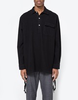 Our Legacy Vent Popover Shirt Black Ultimate Flannel