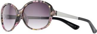 Elle Women's Mixed Media Oval Sunglasses