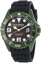 Haurex Italy Men's Ink Khaki Rubber Band Aluminum Watch 1K374UVV