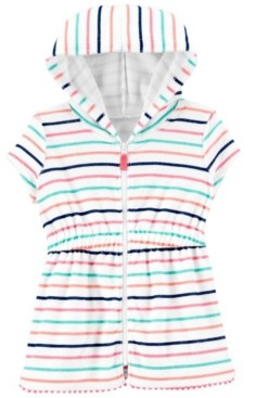 Carter's Toddler Girls Striped Hooded Cover Up