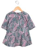 Bonpoint Girls' Paisley Pleated Dress