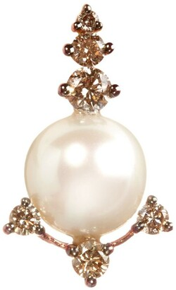 Annoushka Diamond And Pearl Stud Earring