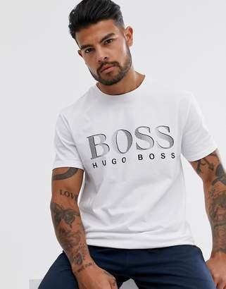 BOSS bodywear bold logo t-shirt in white