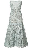 Monique Lhuillier lace mermaid dress - women - Silk/Cotton/Nylon/Polyamide - 4