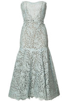 Monique Lhuillier lace mermaid dress - women - Silk/Cotton/Nylon/Polyamide - 6