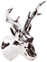 Urban Trends Ceramic Deer Head Wall Decor Chrome Silver