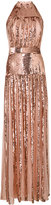 Temperley London sequin panel halterneck gown