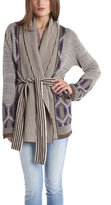 Twelfth St. By Cynthia Vincent Ikat Sweater in Purple
