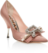 Rochas Dusty Rose Pump with Bow