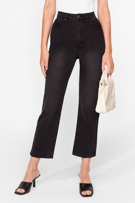 Nasty Gal Womens A Classic Cropped Mom Jeans - Black - 14