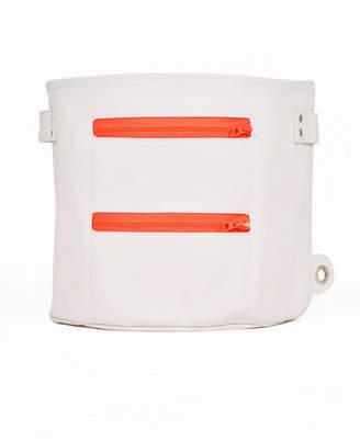 Mimish Large Canvas Storage Bin with Zipper Pocket