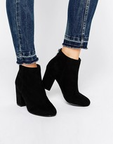 Head Over Heels By Dune Olive Back Zip Heeled Ankle Boots