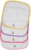 Ralph Lauren Baby Girls 4-Pack Terry Cloth Washcloths